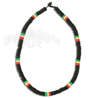 Rasta 8MM Coco Beads Choker