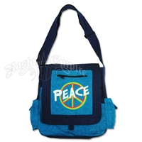 Rasta Peace Sign Shoulder Bag