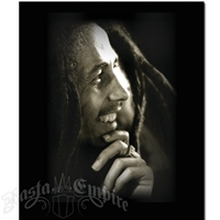Bob Marley Legend Black & White Fleece Throw