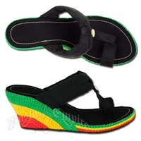 Dub Wise Rasta and Reggae Wedge Sandals