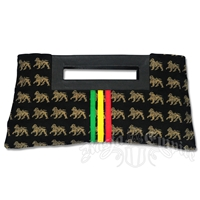 Dub Wise Rasta Lion Clutch Purse - Black