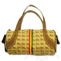 Dub Wise Rasta Lion Large Barrel Purse - Khaki