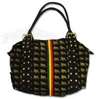 Dub Wise Rasta Lion Hand Bag/Purse - Black