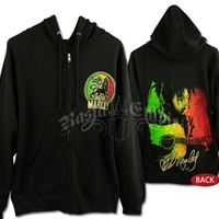 Bob Marley & Lion of Judah Black Zip Hoodie - Men's