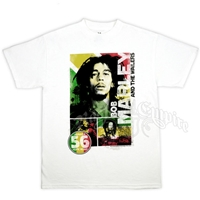 Bob Marley And The Wailers Rasta 56 Hope Road White T-Shirt - Men's