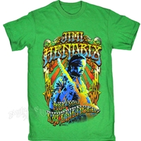 Jimi Hendrix Are You Experienced Grass Green T-Shirt – Men's