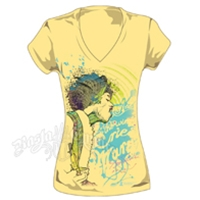 Jimi Hendrix The Wind Cries Mary Yellow V-Neck T-Shirt - Women's