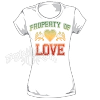 Rasta Lion of Judah Love White T-Shirt - Women's
