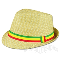Rasta Straw Fedora - Natural