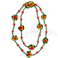 Rasta Long Double Necklace