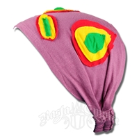 Rasta Circles Kerchief Headband - Plum