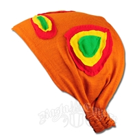 Rasta Circles Kerchief Headband - Orange