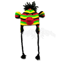 Rasta Monkey Ear Flap Beanie Hat – Youth's