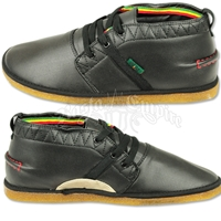 Bob Marley Pipeline Black Leather Shoes – Men's