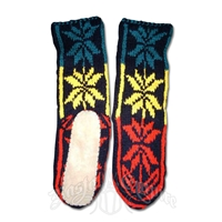 Rasta Mukluk Slipper Socks