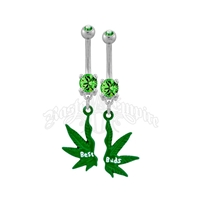 Best Buds Belly Ring with Gems - Set