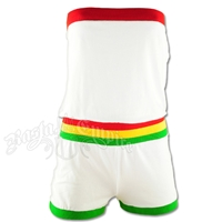 Rasta Tube Top Romper - White