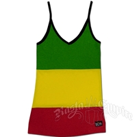 Bob Marley Rasta Stripe Tank Top - Women's