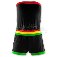 Rasta Tube Top Romper - Black