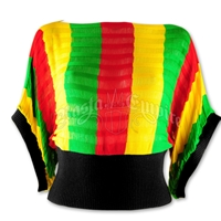 Rasta and Reggae Knit Dolman Top