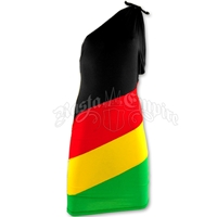 Rasta and Reggae One Shoulder Short Dress