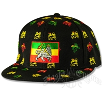 Rasta Lion All Over Ball Cap
