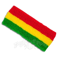 Rasta Terry Cloth Headband
