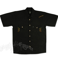 Rasta Zig-Zag Button Down Club Shirt - Black
