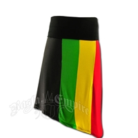 Rasta Vertical Striped Skirt
