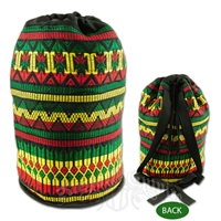 Rasta Patterned Cinch Backpack