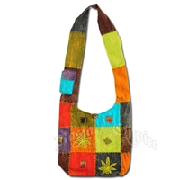 Marijuana Leaf Patchwork Shoulder Bag