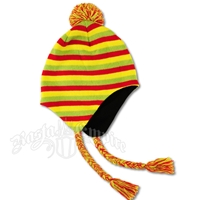 Rasta Ear Flap Hat - Stripes