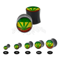 Rasta Leaf Double Saddle Body Jewelry