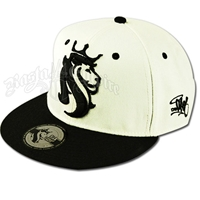 Lion of Judah Black & White Cap