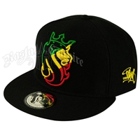 Lion of Judah Rasta Striped Cap
