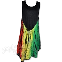 Rasta and Reggae Tie Dye Dress