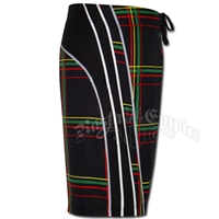 Rasta Plaid Boardshorts - Men's