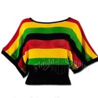 Rasta and Reggae Dolman Top