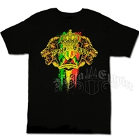 RastaEmpire Logo and Lion Black T-Shirt - Men's