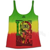Bob Marley One Love Tie-Dye Tank Top - Women's