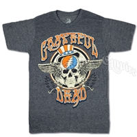 Grateful Dead Wings Navy Heather T-Shirt - Men's