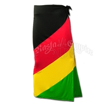 Rasta and Reggae Long Skirt With Tie