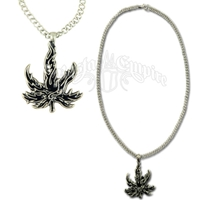 Tribal Leaf Charm Necklace