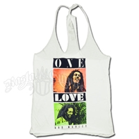 Bob Marley One Love White Twist Tank Top - Women's