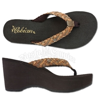 Cobian Zoe Natural Wedge Sandals - Women's