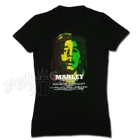 Bob Marley Film Black T-Shirt - Women's