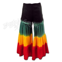 Rasta Black Bell Bottom Pants - Women's