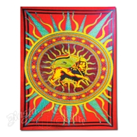Sunburst Rasta Lion of Judah Tapestry