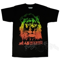 Rasta Lion T-Shirt Black - Men's