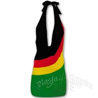 Rasta Front Drape Mini Dress